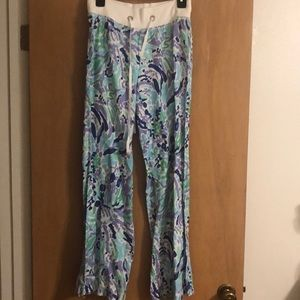 NWT Lilly Pulitzer Linen Beach Pants In Nice Ink